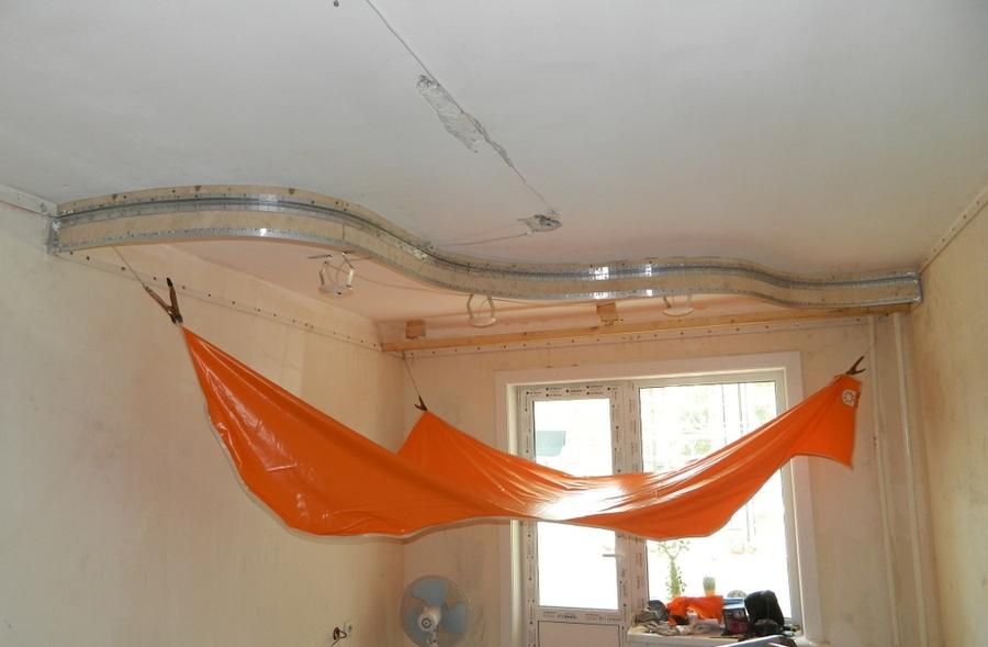 Как сделать правильно двухуровневый потолок